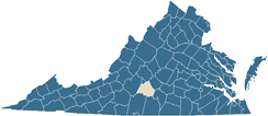 Map of Campbell County